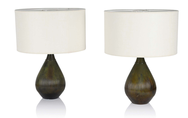 Just Andersen, 'Pair of lamps', circa 1930, Aguttes