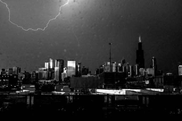 , 'Lightning, Chicago,' 2017, Gallery Victor Armendariz