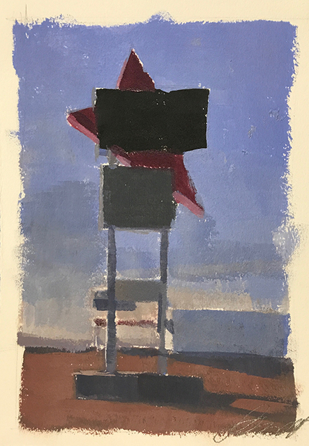 , 'Study for Roys at Sunset,' 2018, Somerville Manning Gallery