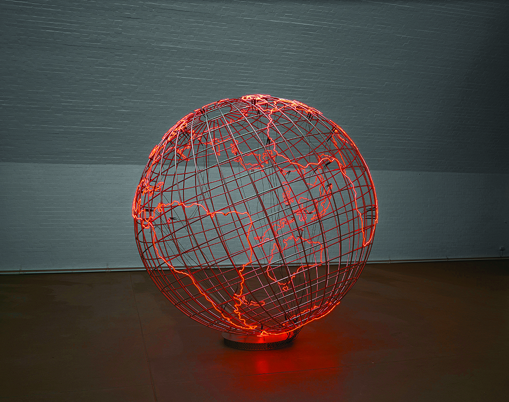 "Mona Hatoum, ""Hot Spot,"" 2013. Centre Pompidou (2015). © Courtesy of the artist © Photo Courtesy The artist and Galerie Max Hetzler, Berlin 