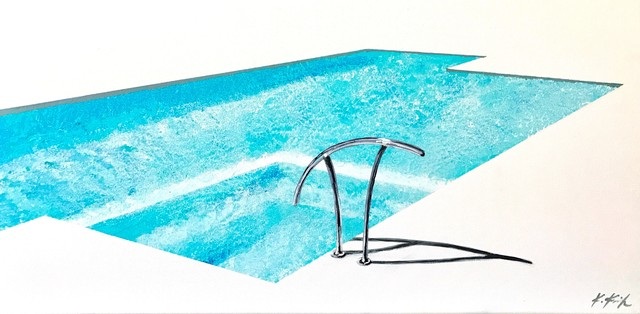 Kathleen Keifer, 'Deep Aqua Velvet Pool', 2017, Artspace Warehouse
