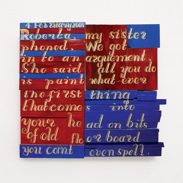 , ''Diary Page: 4February 2007 – Roberta, My Sister Phoned',' 2008, Kusseneers