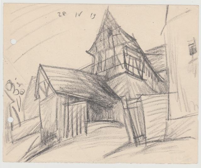 , 'Häuser in Niedergrunstedt,' 1913, Henze & Ketterer