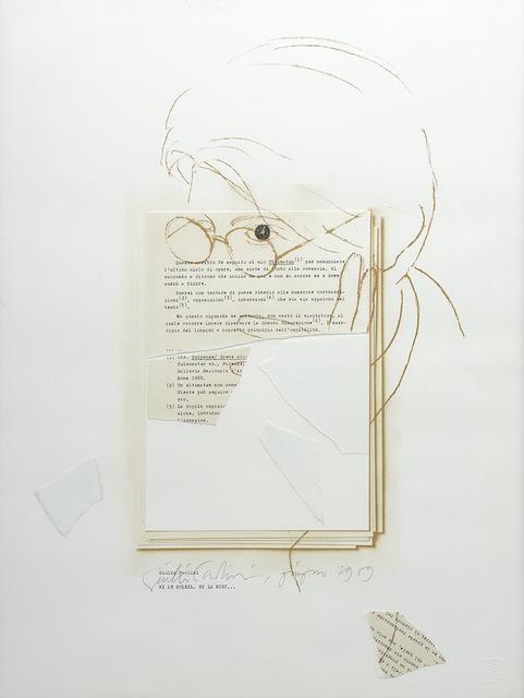 Giulio Paolini, 'Ni le soleil, ni la mort', 1989, Studio la Città
