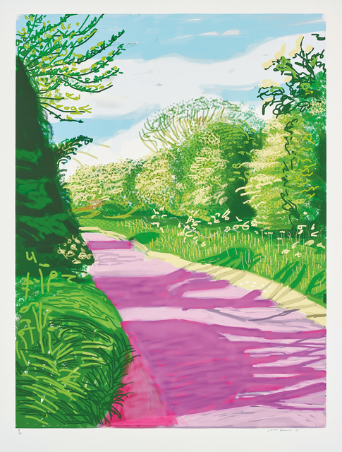 David Hockney, 'The Arrival of Spring in Woldgate, East Yorkshire in 2011 (twenty eleven) - 31 May, No. 2, 2011, from The Arrival of Spring in 2011 (twenty eleven)', 2011, Phillips