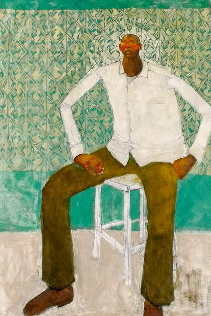 , 'Man sitting with Aura ,' 2019 , Out of Africa Gallery