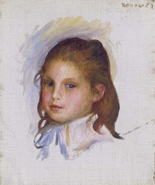 Pierre-Auguste Renoir, 'Child with Brown Hair', 1887/1888, National Gallery of Art, Washington, D.C.