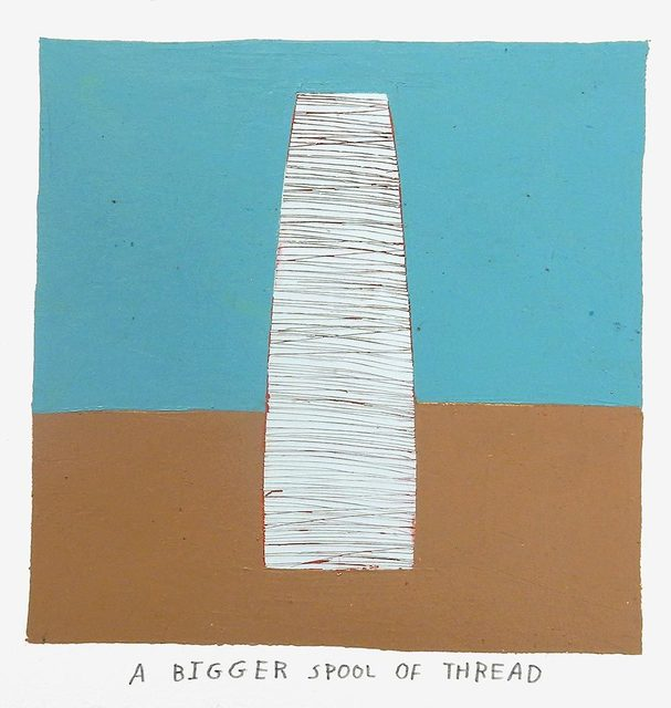 , 'a bigger spool of thread,' 2017, Uprise Art