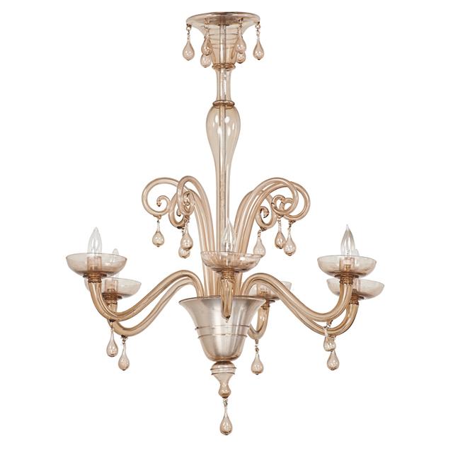 Napoleone Martinuzzi, 'Chandelier, Italy', First half 20th C., Design/Decorative Art, Blown Glass, Aluminum, Rago/Wright