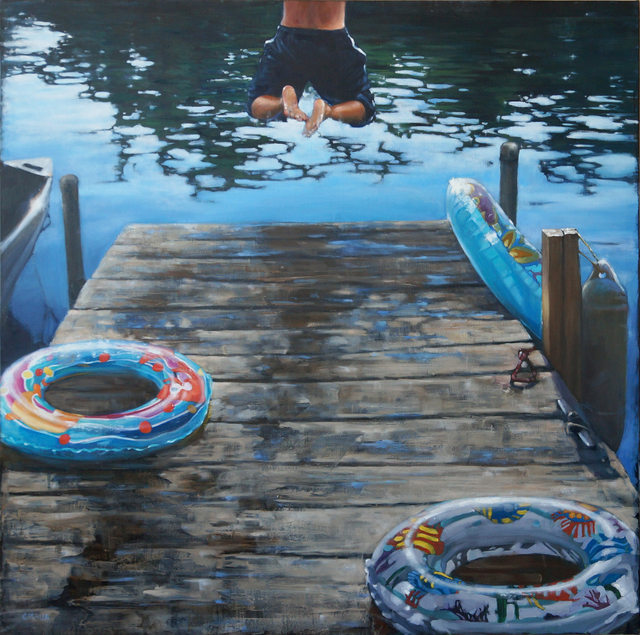 , 'Jumping Through  Hoops,' 2016, West Branch Gallery