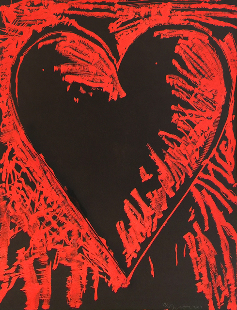 , 'The Black and Red Heart,' 2013, Jonathan Novak Contemporary Art