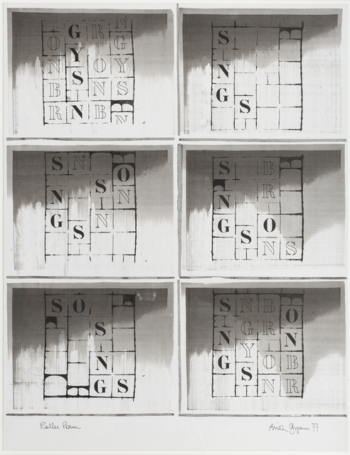 , 'Roller Poem II ,' 1977, October Gallery