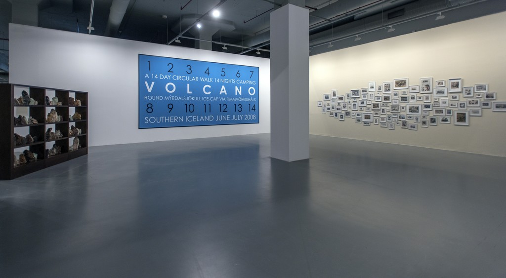 "Hamish Fulton, Volcano Iceland, 2008 and Mark Dion, White Out, 1992. Installation view of ""TILL IT'S GONE: An Exhibition on Nature and Sustainability"" at Istanbul Modern, 2016."