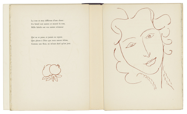 Henri Matisse, 'Florilège des Amours de Ronsard', 1948, Print, The complete set of 125 lithographs printed in sanguine and one in black on wove paper, Christie's