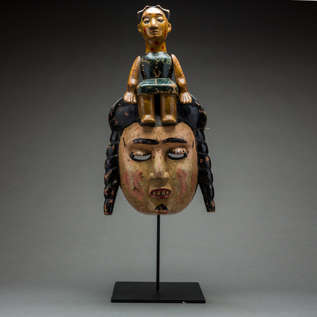 Unknown African, 'Ibibio Colonial Polychrome Dance Mask', 20th Century AD, Barakat Gallery
