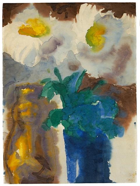 , 'Stilleben mit Blumen und Barock-Figur,' 1930, Galerie Herold