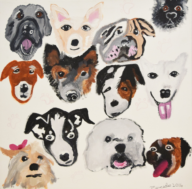 , 'Moody Dogs II,' 2016, Fountain House Gallery