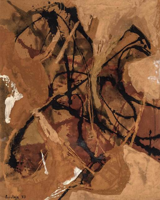 Toti Scialoja, 'Luce Romana', 1957, Painting, Oil on canvas, Doyle
