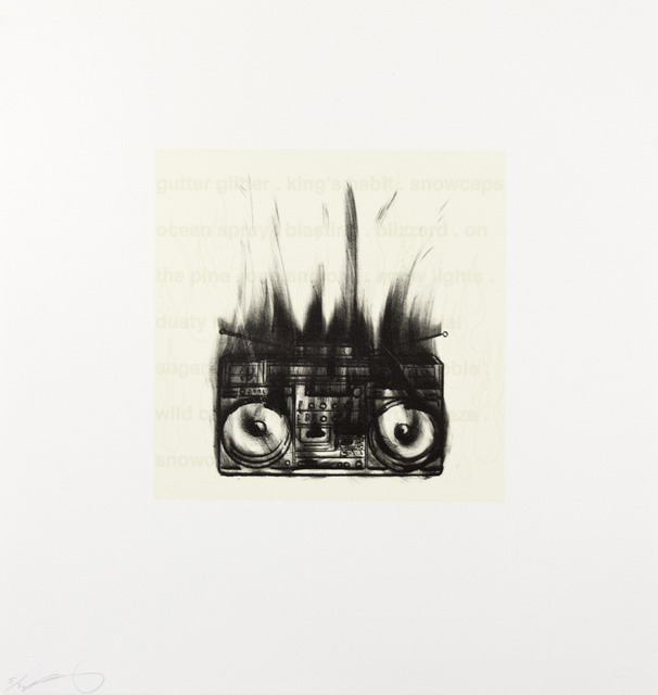 , 'Flaming Boom Box,' 2005, Tamarind Institute
