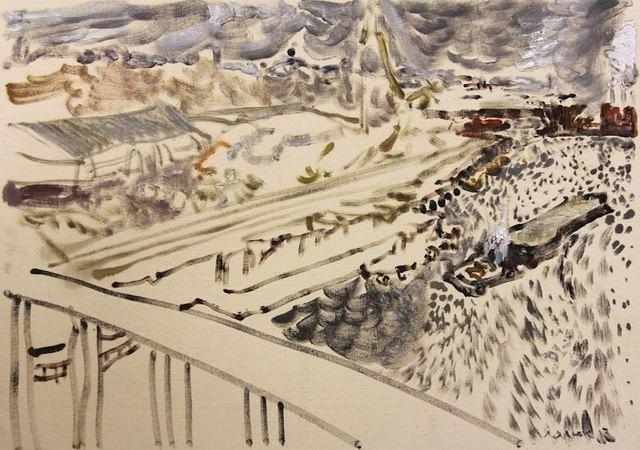 , 'Podil from the Old Sailors Bridge, November 26, 2017,' 2017, Robert Kananaj Gallery