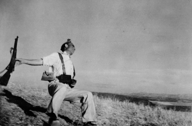 , 'Death of a loyalist militiaman. Córdoba front, Spain. ,' 1936, Magnum Photos
