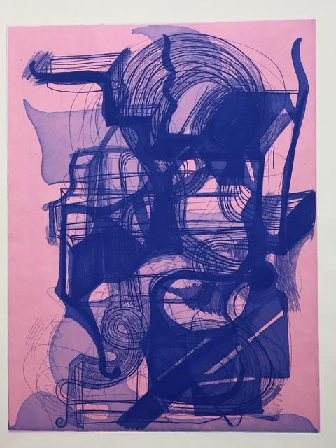 Joanne Greenbaum, 'Untitled', 2018, Print, Softground, aquatint, chine colle on paper, Jennifer Melby Editions