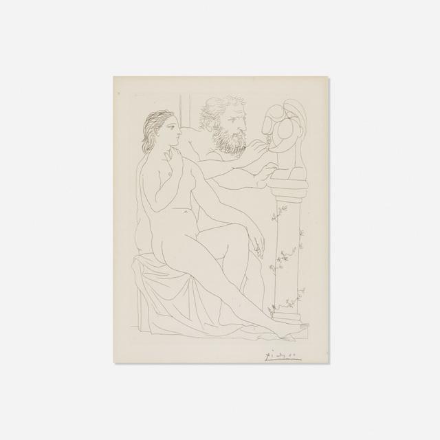 Pablo Picasso, 'Sculpteur, Modele et Buste sculpte from La Suite Vollard', 1933, Rago/Wright