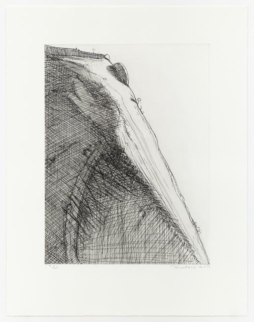 Wayne Thiebaud, 'Heart Ridge', 2011, Print, Hard ground etching with drypoint, Mary Ryan Gallery, Inc