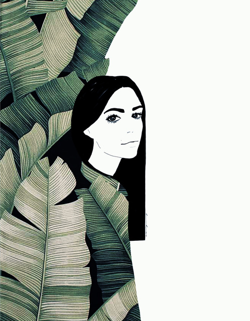 Ramona Russu, 'The girl with black hair/ Maquis 3', 2019, Artig Gallery