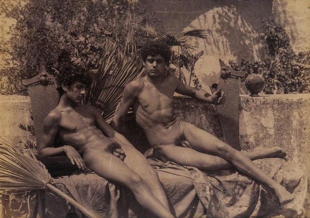 Baron Wilhelm Von Gloedon, 'Three photographs of nude Sicilian youths', 1890s, Doyle