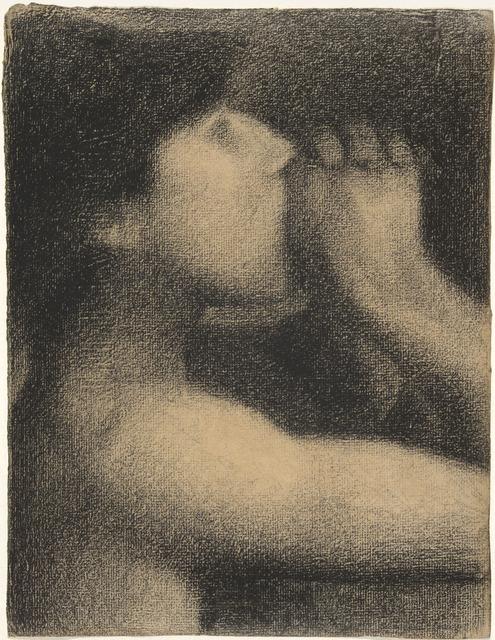 Georges Seurat, 'L'écho (Echo), study for Une baignade, Asnières (Bathers at Asnières)', 1883-1884, Yale University Art Gallery