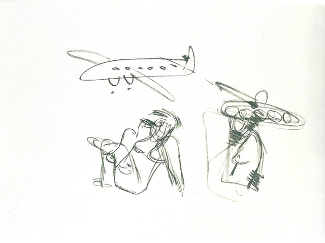 , 'PLANE, TANK AND WOMAN,' ca. CA 1986, Gallery One
