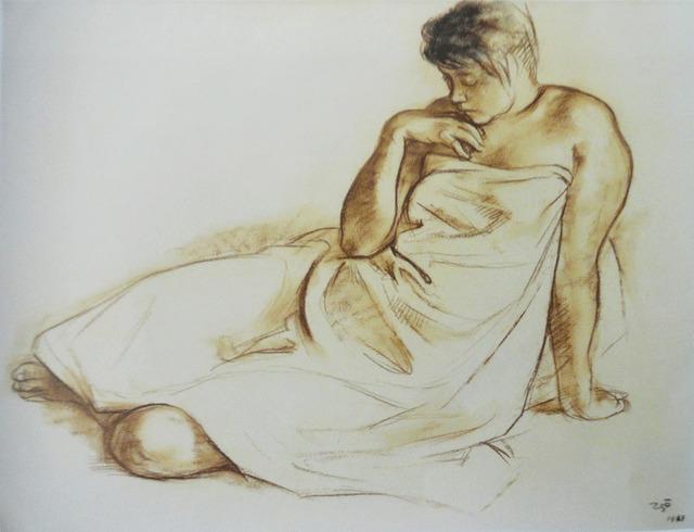 """, '""""Mujer con Paño"""",' 1969, GALERÍAS A. CRISTOBAL"""