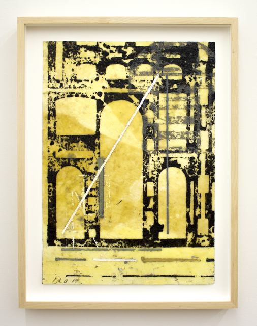 David Rabinowitch, 'Untitled (Périgord Construction of Vision)', 2014, Drawing, Collage or other Work on Paper, Beeswax, crayon, oil and oil based ink on paper, Peter Blum Gallery