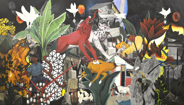 , 'Aswangs enter the city,' 2018, Ayala Museum