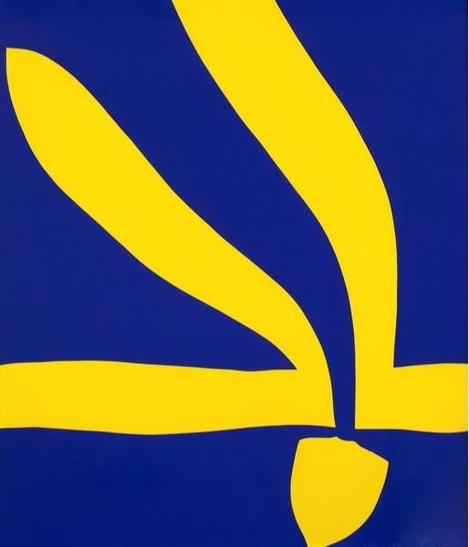 "Jack Youngerman, '""Blue/Yellow"" Litho', 1968, Caviar20"