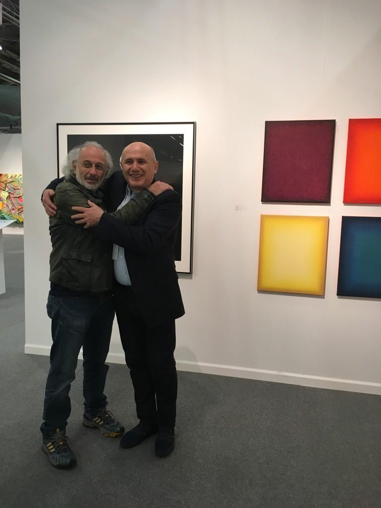 Jerry Schatzberg and Nick Rukaj at Art New York.