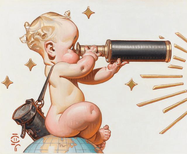 Joseph Christian Leyendecker, 'Looks Good for '48', 1948,  M.S. Rau