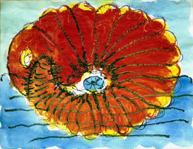 """, '""""Red snail"""",' 1990, Krokin Gallery"""