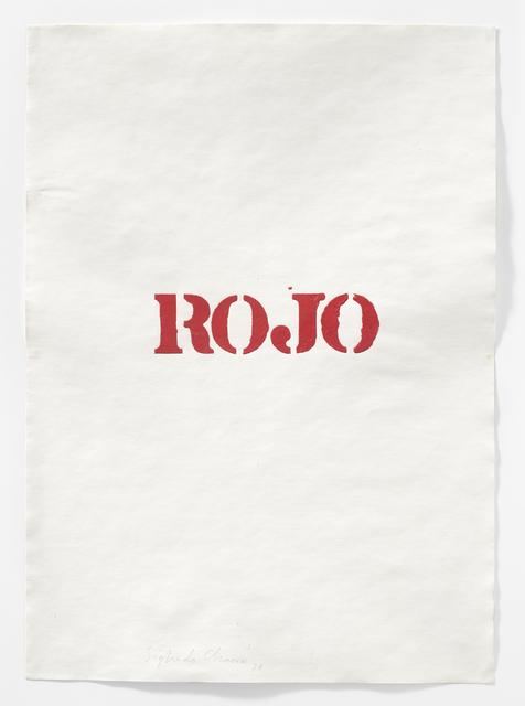 Sigfredo Chacón, 'Dibujo serie London (Rojo)', 1974, Henrique Faria Fine Art