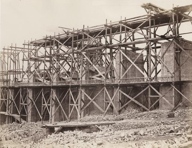Édouard Baldus, 'Construction of a Viaduct on Rail Line of Chemin de Fer Paris-Marseille', 1853-1854, Photography, Salt print from paper negative on original mount, Contemporary Works/Vintage Works