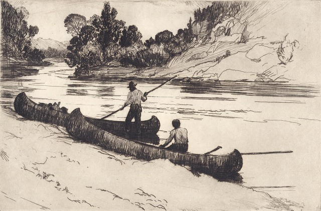 Frank Weston Benson, 'On the Kedgwick.', 1923, Print, Etching,, The Old Print Shop, Inc.