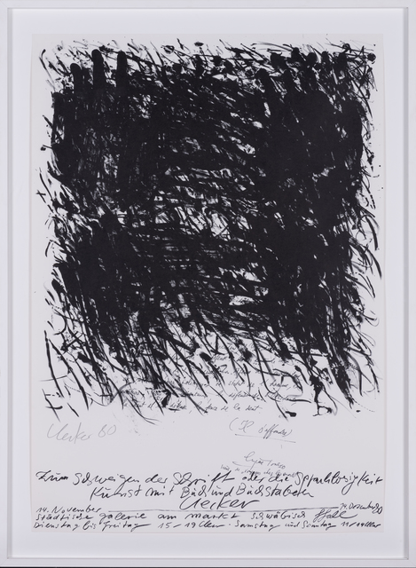 Günther Uecker, 'Silkscreen for the artist's exhibition', 1980, PIASA