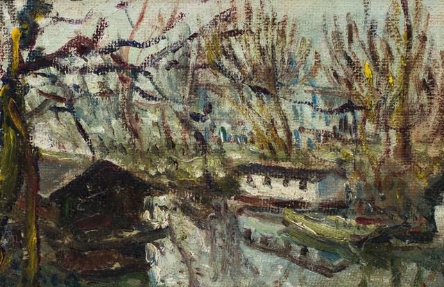 Dimitrie Berea, 'Bord de rivière', Painting, Oil on masonite, Leclere