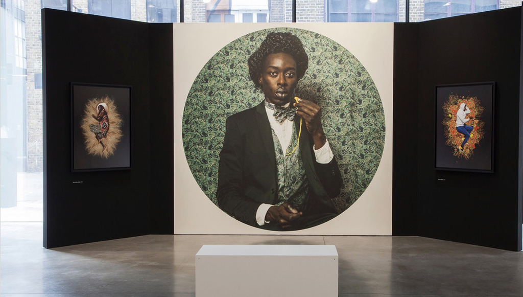 'Omar Victor Diop: Liberty/Diaspora' at Autograph, London, 20 July - 3 November 2018, curated by Renée Mussai and Mark Sealy. Photograph by Zoe Maxwell, courtesy of Autograph.
