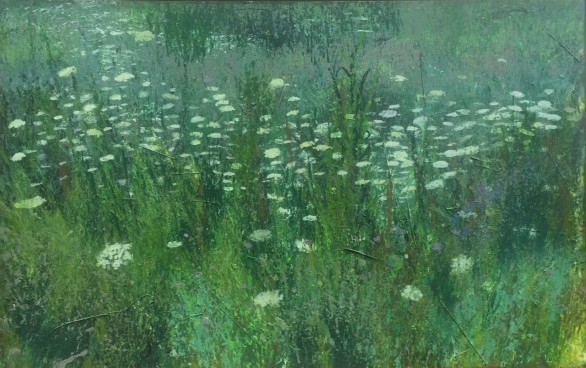 Patrick Kirwin, 'Queen Anne's Lace ', Painting, Acrylic Paint, Pieces of Plant Material (dimensions provided are unframed), Zenith Gallery