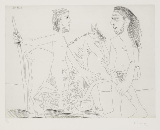 Pablo Picasso, 'Télévision: combat de chars à l'antique (B. 1510; Ba. 1526)', 1968, Sotheby's