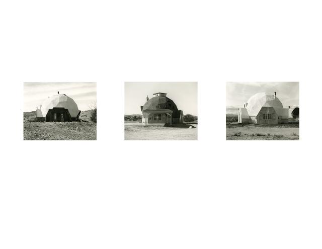 Mark Ruwedel, 'Three Domes', 2013, Photography, Three Gelatin Silver Prints Mounted on Individual Archival Rag Boards, Yossi Milo Gallery