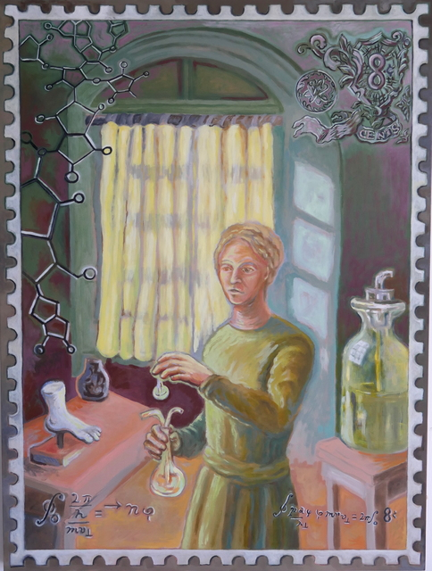 Kathy Weinberg, 'Madame Curie / Eight Cents', 2019, Painting, Oil on Panel, The Painting Center