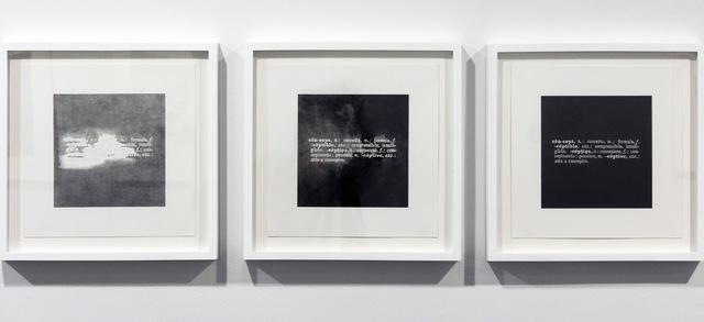 ", 'Formalizing their concept: Joseph Kosuth's ""Art as idea as idea, concept"", 1967,' 2013, Josée Bienvenu"